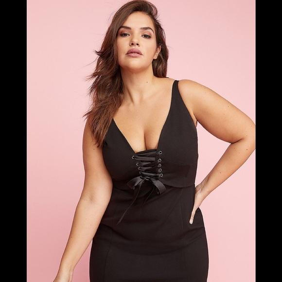 d91b022392e6f Lane Bryant Dresses & Skirts - Lane Bryant 16 Black Corset Dress